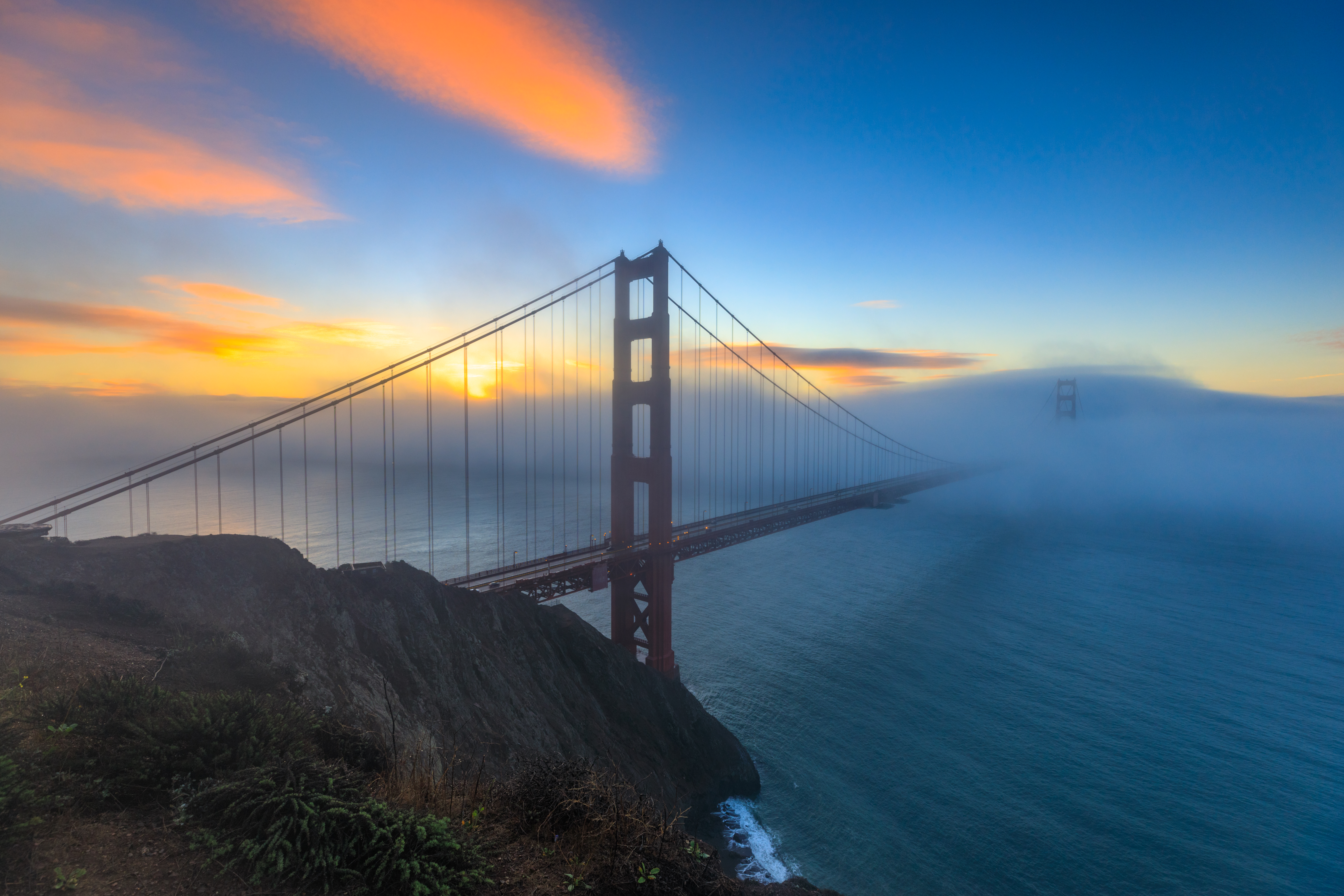 Purchase a Print of Golden Gate Glow
